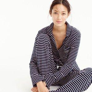 J. Crew Dreamy Pink/Navy Stripe Knit Pajamas Set